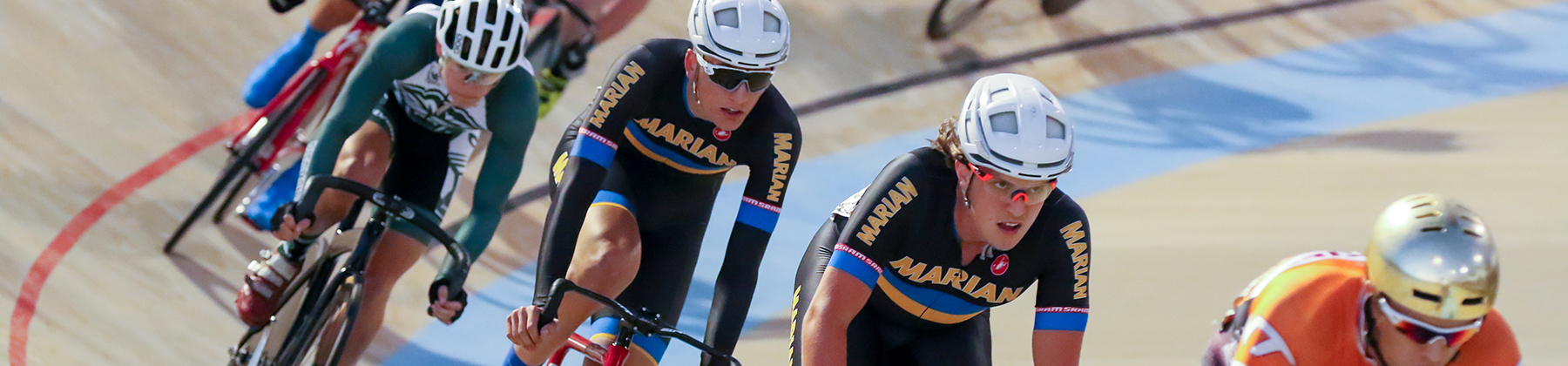 Marian University's championship cycling team