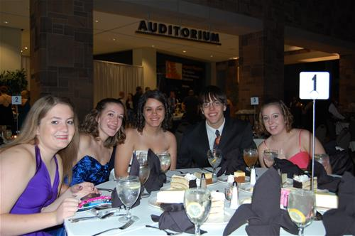 Students at the Gala