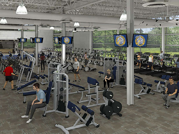 Fitness Center Construction : Construction corner marian university is building a new