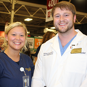 Marian University health professions students at 2017 WTHR Health & Fitness Expo.