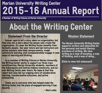 Writing Center Annual Report