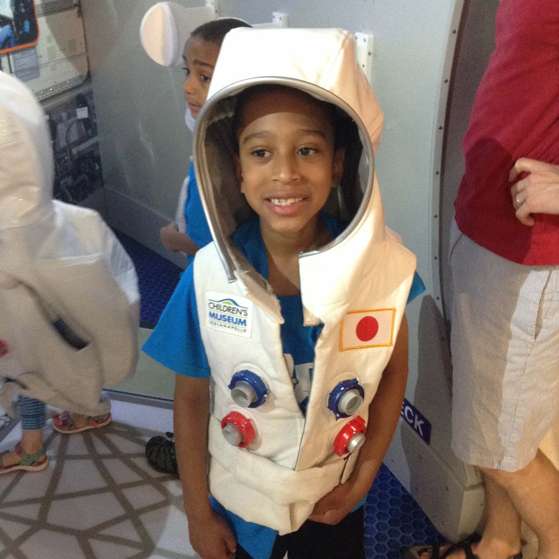 camper in space suit