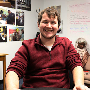Daniel Burkhardt is a tutor in the Writing Center at Marian University