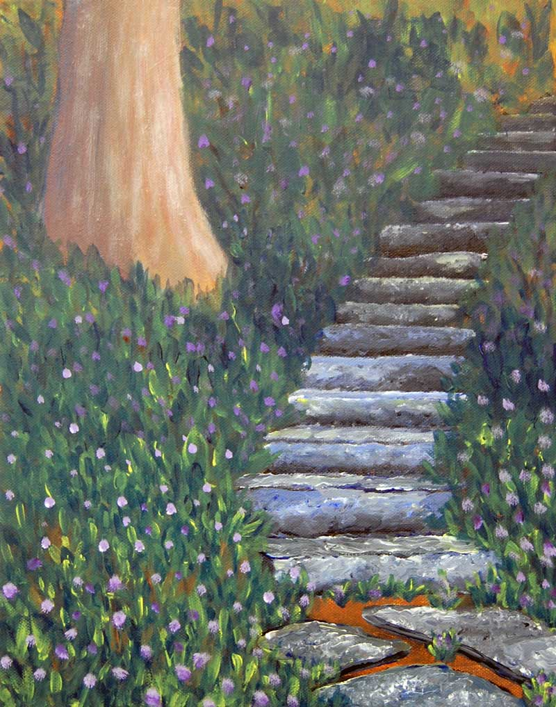 emilie-esker-squill-and-stairs-painting