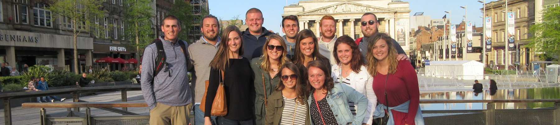 A group of Marian University students in Europe.