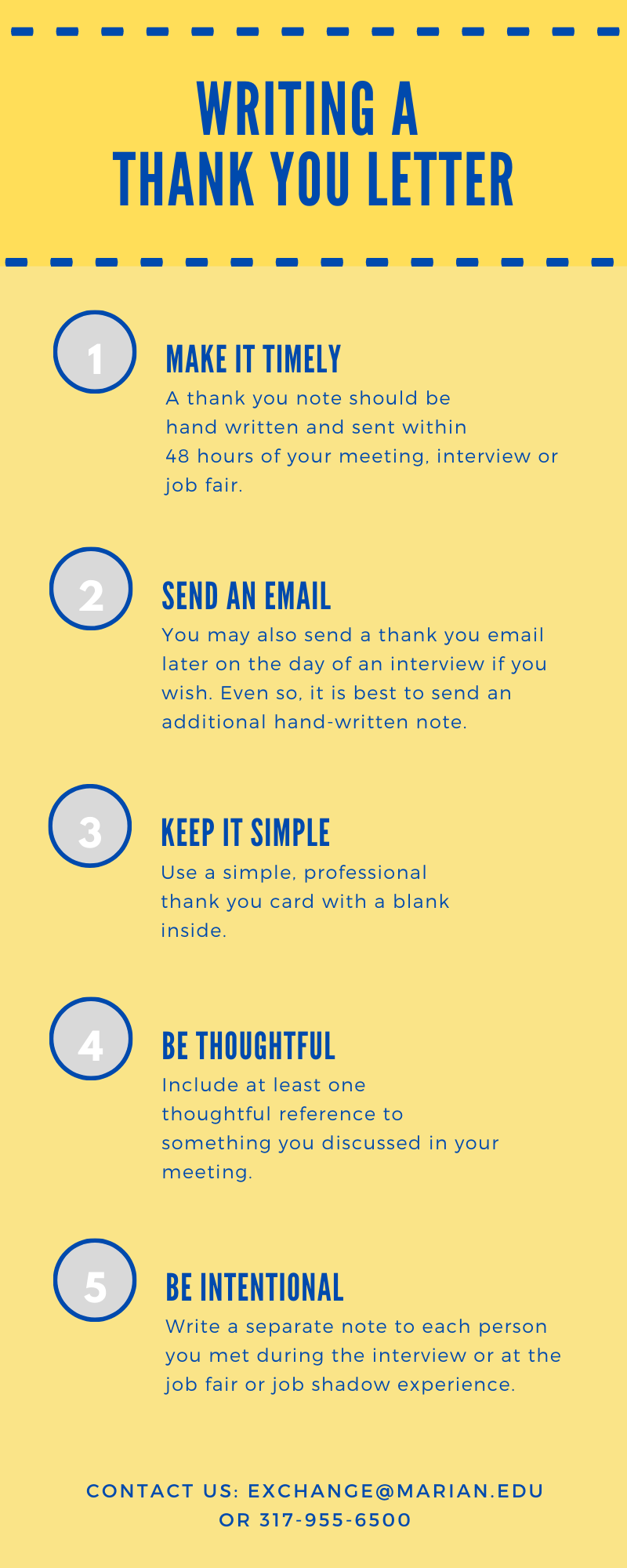 Thank You Letter Infographic