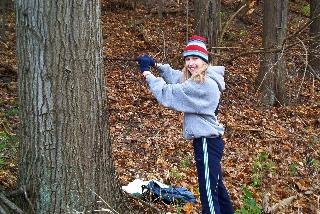 ecolab research pic - girl measuring tree
