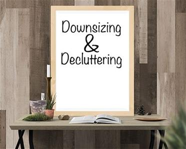 Downsizing and Decluttering White Board