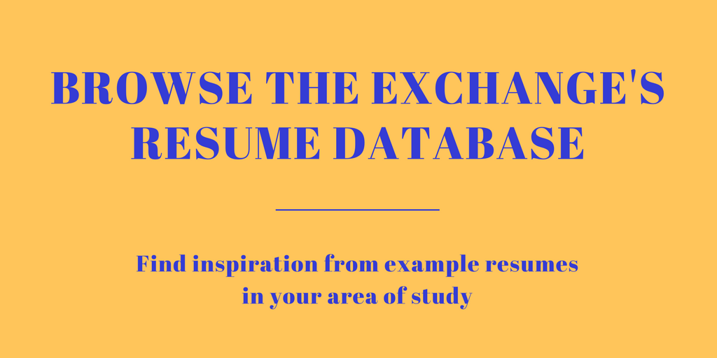 Example Resume and CV Database