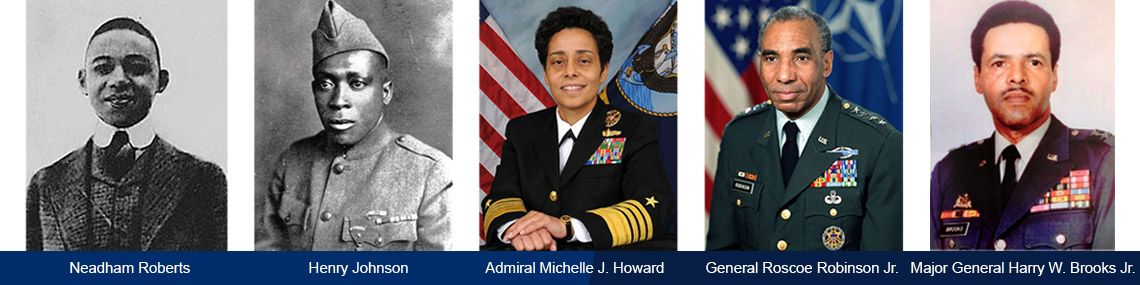 Black History Month blog header image with military heros