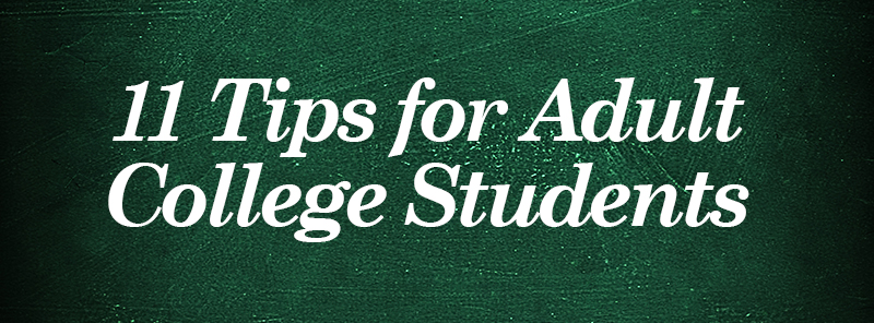 Tips for adult college students header image