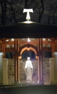 Blessed Mother Mary Shrine and Rosary Walk at Marian University