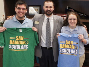 patrick verhiley with san dam scholars